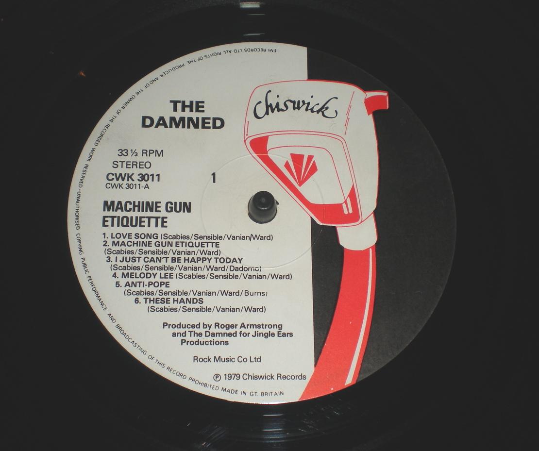 the damned machine gun etiquette songs